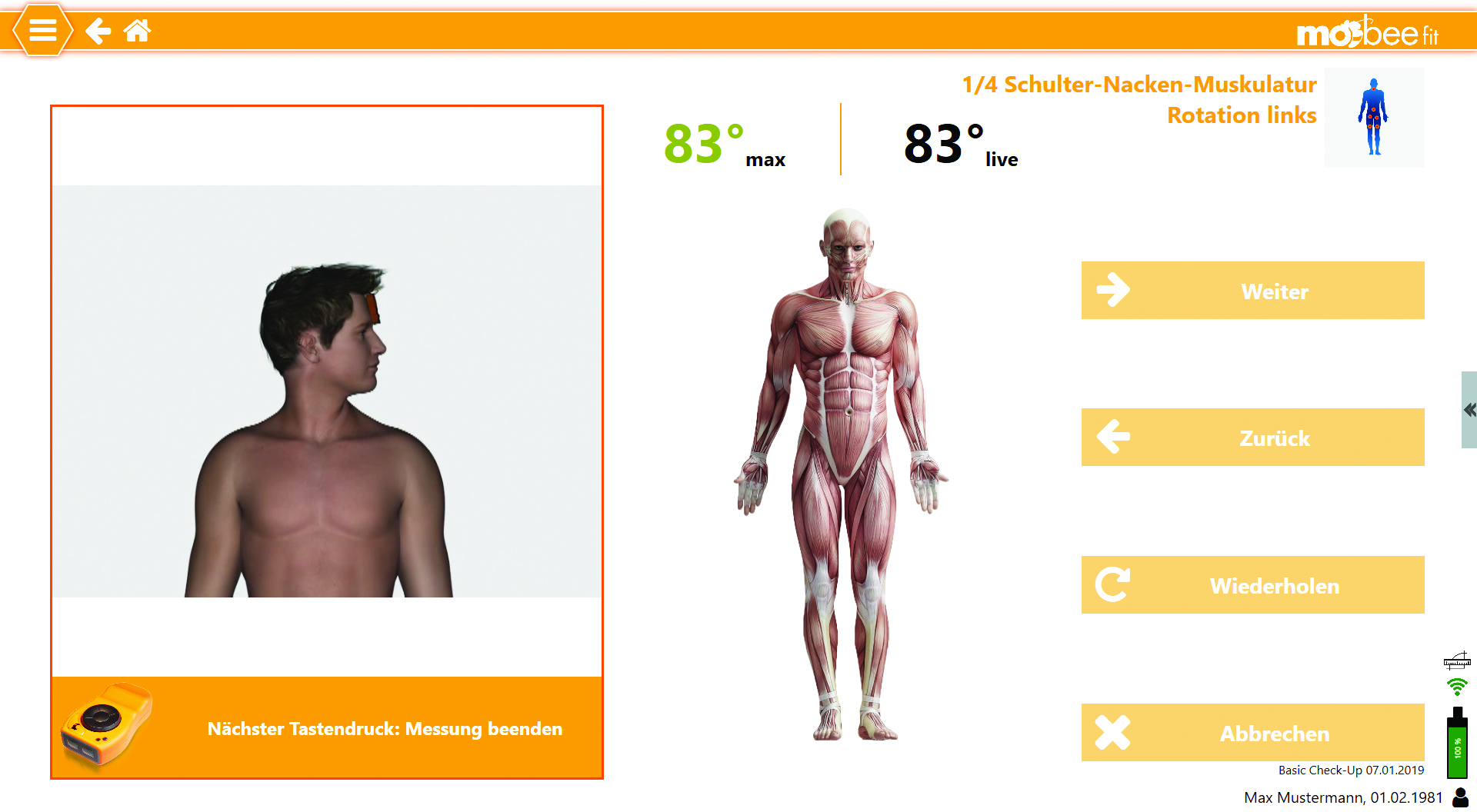 mobee fit Analysevorgang